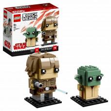 Конструктор LEGO BrickHeadz Люк Скайуокер и Йода 41627