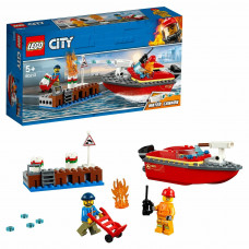 Конструктор LEGO City Fire Пожар в порту 60213