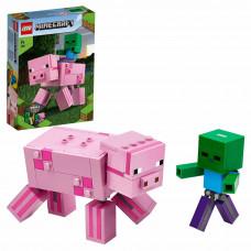 Конструктор LEGO Minecraft Minecraft Свинья и Зомби-ребенок большой 21157