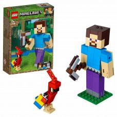 Конструктор LEGO Minecraft Большие фигурки Minecraft Стив с попугаем 21148