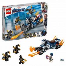 Конструктор LEGO Marvel Super Heroes Капитан Америка Атака Аутрайдеров 76123